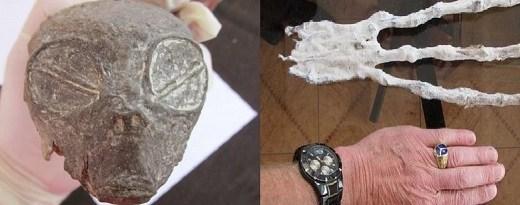 Strange alien skull and hand found in Peru
