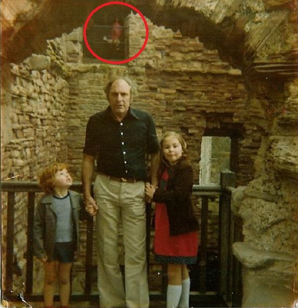 Ghost at Tantallon Castle circled