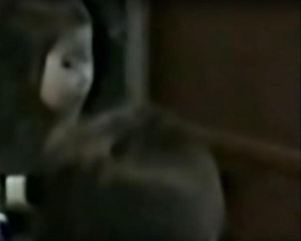 Fantôme japonais dans le miroir