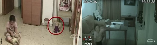 Little girl spooked by spirits