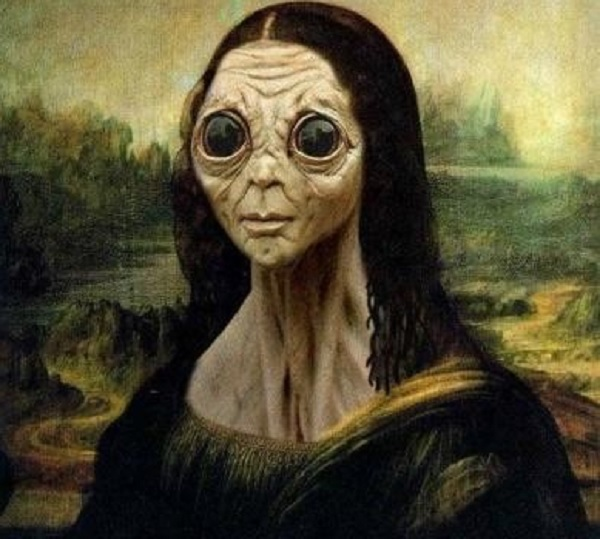alien found inside the mona lisa painting freak lore