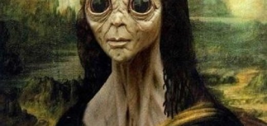 Alien found inside the Mona Lisa painting