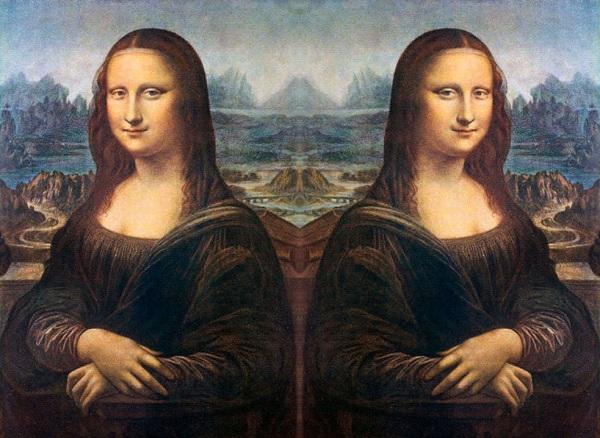 Mona Lisa folded
