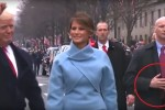 Trump inauguration alien reptilian bodyguard hands