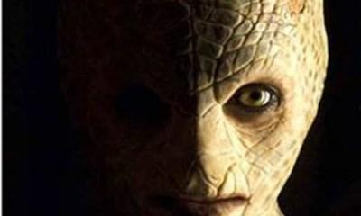 Alien reptilian face