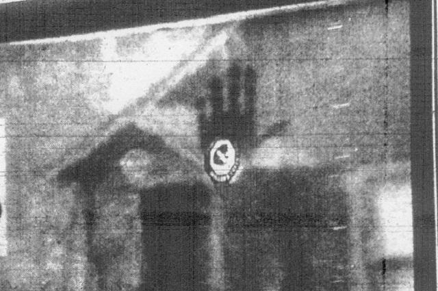 Francis Leavy handprint