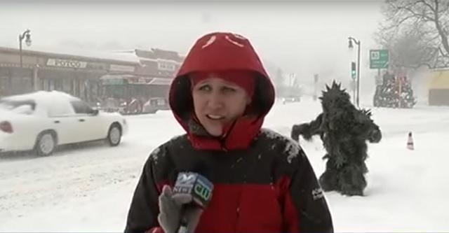 News reporter channel 22 Sasquatch