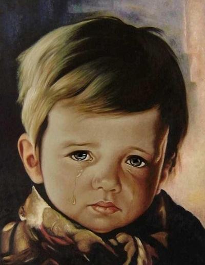 Crying Boy Bragolin