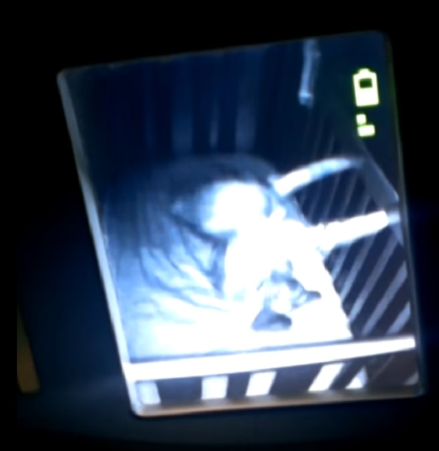 Ghost messes with child inside cradle
