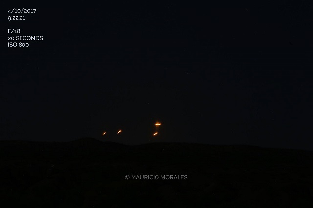 Clearly seen UFOs captured on camera in Arizona sky night