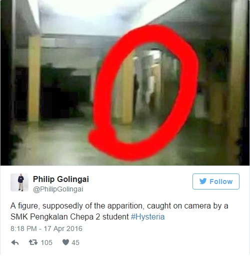 Malaysian mysterious figure at school