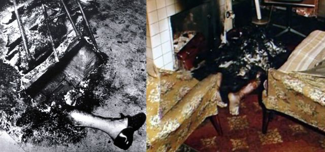 spontaneous human combustion feet left behind