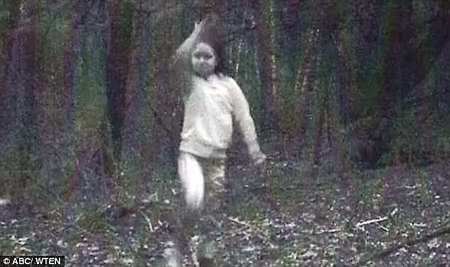 Ghost girl in woods of Cambridge New York