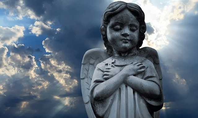 Angel statue outdoors