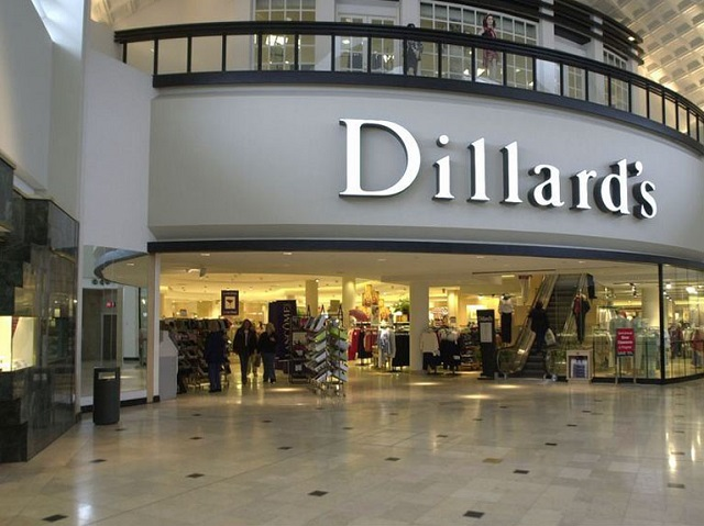Dillard's Inc. is an American department store chain with approximately stores in 29 states headquartered in Little Rock, Arkansas. Currently, the largest number of stores are located in Florida with 42 and Texas with 57, but it also has stores in 27 more states although it is absent from the Northeast (Washington DC northward), most of the Upper Midwest (no Michigan, Chicago, Wisconsin.
