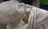 Mummified humanoid alien close up