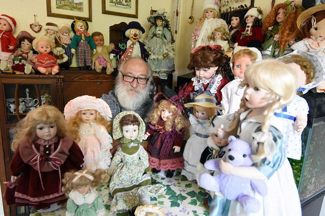 Barry Collingswood and his haunted doll collection