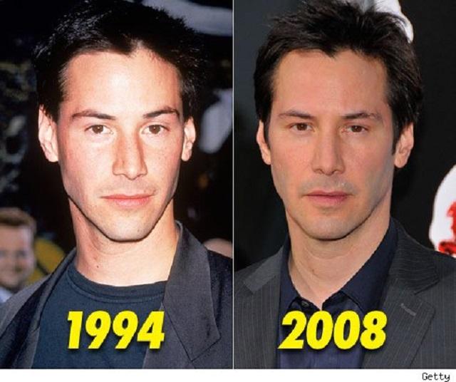 Keanu Reeves age comparison