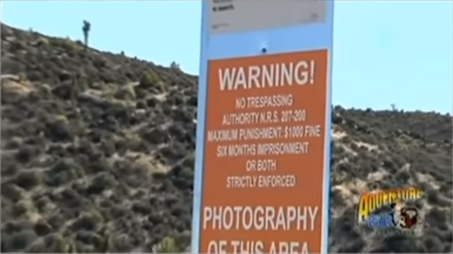 warning sign Area 51