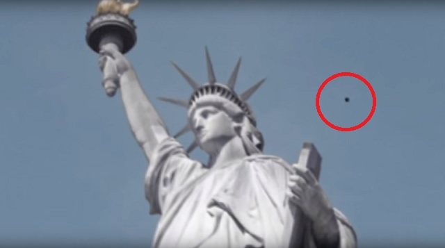 Statue of Liberty UFO spotted
