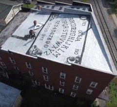 World's largest Ouija board top of roof