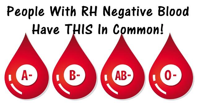 RH negative blood type