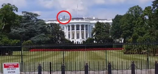 Alien recorded on top of The White House