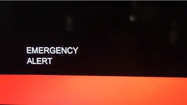 Emergency Alert message September 21 2017