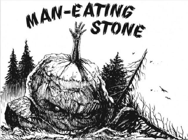 Man eating stone Bennington Triangle
