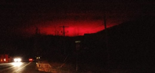 Red glowing eruptions illuminate nighttime skies in the USA!
