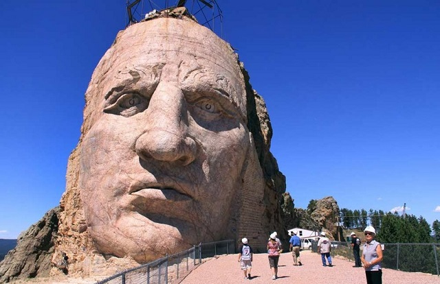 Image: Crazy Horse monument from Pinterest