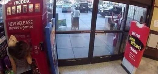 Redbox girl caught mutating by security camera