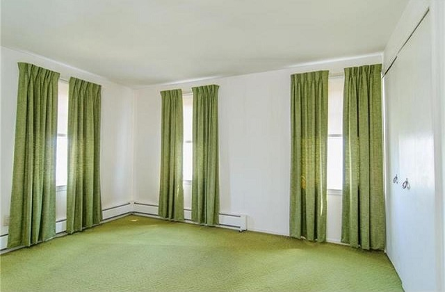 Ugly green curtains