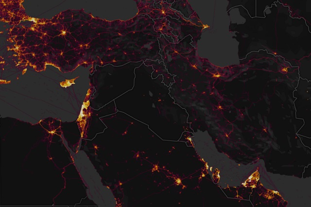 Strava heat map exposes secret government locations