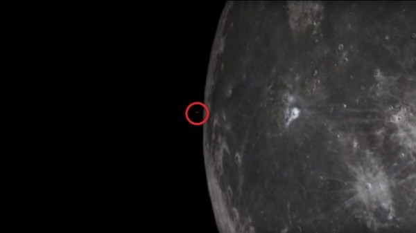 UFO flies from Moon