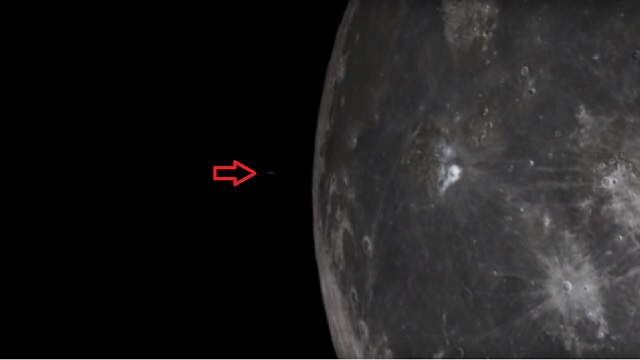 UFO flying from Moon