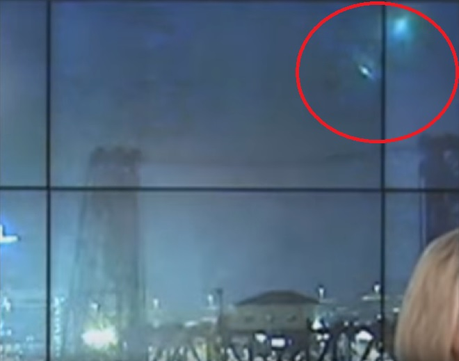 UFOs spotted during live news broadcast