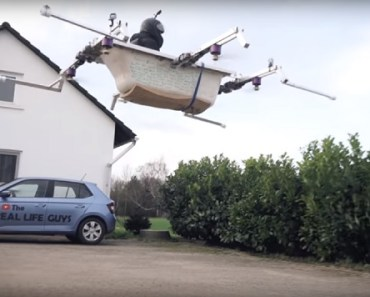 Philipp Mickenbecker flying bathtub Germany