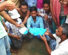 airline poo lands on village in India