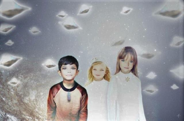 Alien hybrid children on Earth