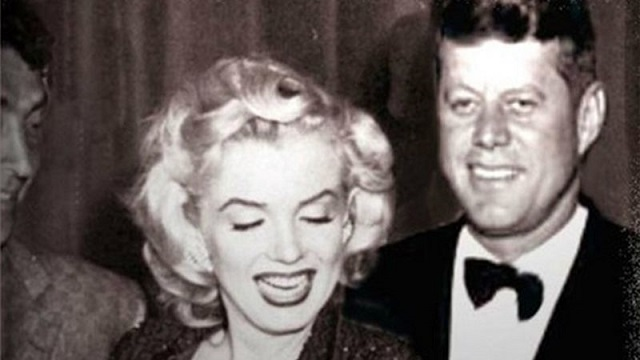 Marilyn Monroe and JFK together