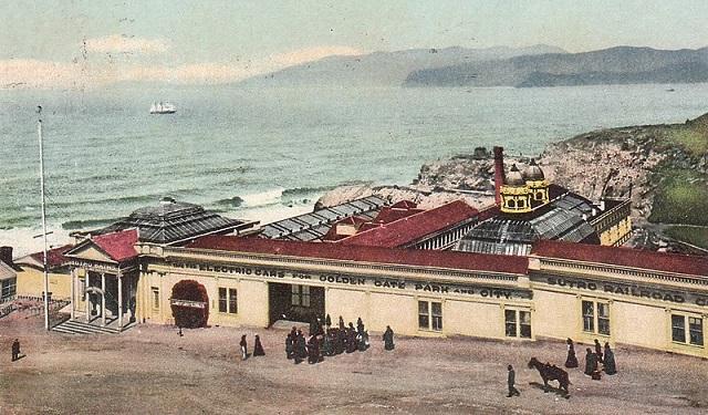 Sutros Baths Electric Cars Golden Gate Park