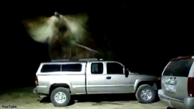 Security camera angel over truck