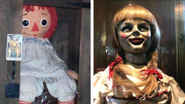 Real Annabelle doll on display