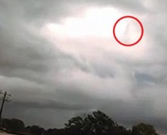 Jesus Seen In The Clouds