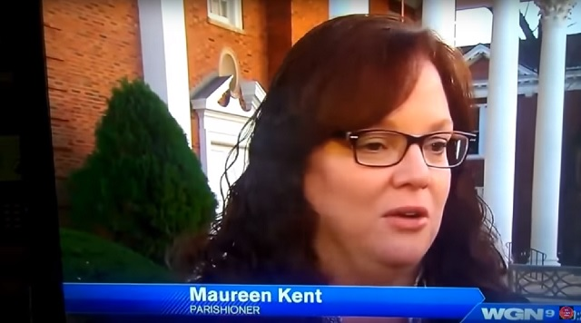 Maureen Kent angel sighting church Glenview Chicago