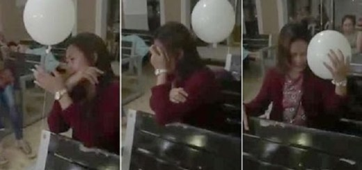 Balloon Floats Over Towards Crying Mourning Mother