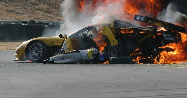 Dale Earnhardt Jr. crash ghost saves him