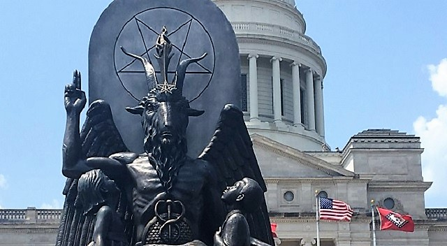 Baphomet statue in Arkansas Capitol Building