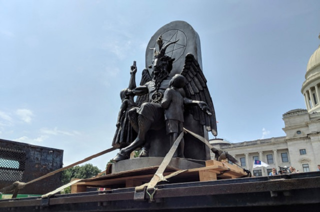 Baphomet statue smashed in Arkansas